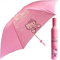 2014 Hot sale Cartoon Wine bottle umbrella for children Hello kitty sunny and rainy umbrella Girls' Anti UV umbrellas