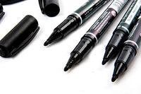 5PCS Fine Dual Heads Marking Pen Marker Waterproofink Thin Nib Black New Portable Free Shipping