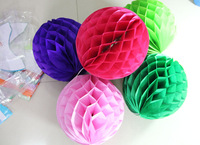 """10"""" 25cm honeycomb ball paper tissue decorations wedding party kids birthday supplies favors 30 pcs"""