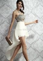 Free Shipping,Hot Elegant Women's Evening Dress,Sexy Paillette Strapless Irregular Ladies' Floor-Length Party Dress,Tee Dress