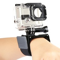 DZ305 FREE SHIPPING New Sports Diving Wrist Strap Mount + Adjustable Elastic Velcro For GoPro Cameras  hero 2 hero 3 hero 3+