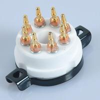 2pcs 8 Pin EL38 6550 KT88 CMC Ceramic Gold Tube Socket