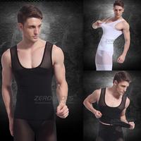 TCB-379 Two Color Slimming Underwear Fashion Sport Powerful Men Body Shaper Sleeveless Shapewear Vest