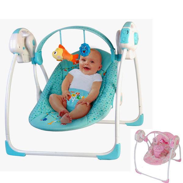 Swing berceau lectriques promotion achetez des swing for Chaise a bascule bebe