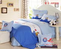 New Beautiful 100% Cotton 4pc Doona Duvet QUILT Cover Set bedding sets Full Queen King 4pcs cartoon colorful blue Sailing boat