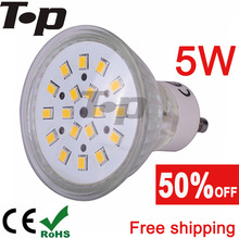 NEW LED Spotlight Free shipping 2 pcs/lot LED bulb 5W GU10 220V 230V 240V 18pcs SMD2835 led spotlight lamp lighting(China (Mainland))