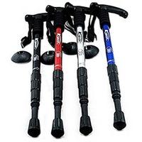 Free shipping outdoor aluminum trekking poles Kabuda  Alpenstock T-cane four telescopic trekking poles