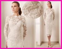 FCD7 Short Evening dress 2014 new sheath lace evening dresses party evening elegant