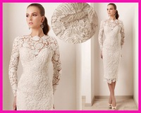 FCD7 Short Evening dress 2014 new sheath lace evening dresses party evening elegant
