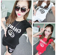Octopussy 2014 Casual Sports Set Candy Color Small Short-Sleeve T-shirt Shorts Twinset  Freel Shopping