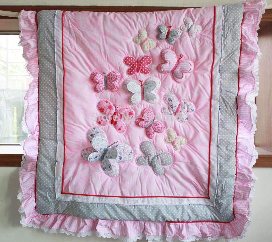 elegant princess baby crib bedding sets 7pcs nursery cot kit set 3d