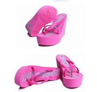 2014 Brand high quality women flip flops summer female sandals platform wedges slippers girl's fashion beach Shoes