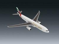 Aircraft Emirates A330 - 243 3D paper model DIY