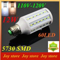 12W,5730 SMD,LED Lamps Bulb,E27 B22 E14,110V,120V,Cold White/Warm white,60 LED,Corn Light Bulb,Ultra bright spot lights