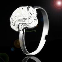 Fashion Jewelry 2014 ES0291 Silver Stylish Charming Flower Finger Ring Adjustable