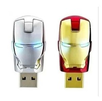 Pendrive 2GB/4GB/8GB/16GB/32GB led  Iron man cartoon USB flash drive memory stick pendrives u disk cute free shipping
