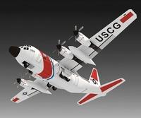 """HC-130 Hercules """"military transport aircraft 3D paper model DIY manual"""