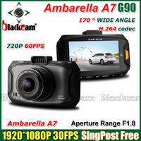 G90 Ambarella A7 Car DVR Video Recorder 1080P Full HD 30FPS 720P 60FPS Excellent Night Video Demo + G-sensor