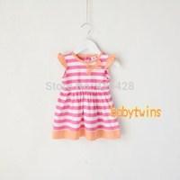 Girls summer   cotton Sleeveless princess dress  80-120cm
