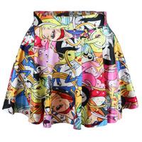 East Knitting R10 New 2014 Spring skirts womens pleated skirts Adventure Time Bro Ball Cartoon SKIRT Saia