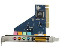 10pcs/lot New 4 Channel 5.1 Surround 3D PC PCI Sound Audio Card w/Game MIDI Port