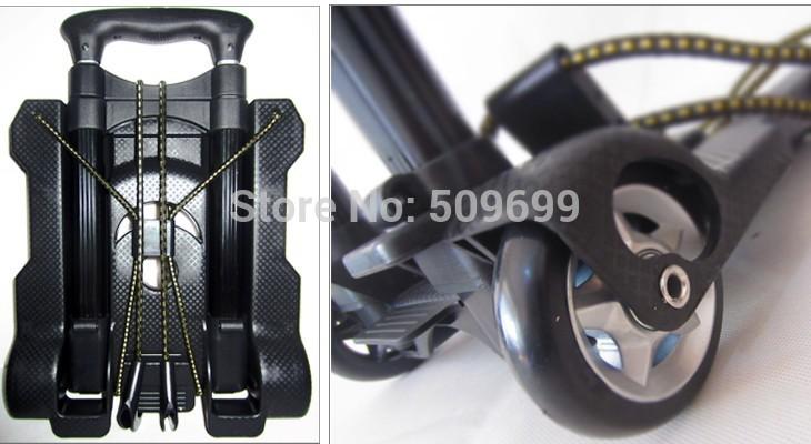 hand cart&Trolley portable folding luggage cart shopping cart car trailer- free shipping(China (Mainland))