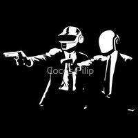 High Quality Pulp Fiction Daft Punk Classic  Casual Fashion T-shirt Tee Dress Camiseta Clothing