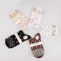 Wholesale Cotton women's socks,10 pairs/lot In-tube socks multi-colors free size
