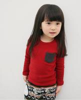 free shipping new arrival children T-shirt,Winter Autunm Baby Girl Boy Long Sleeves Sweatershirt Cotton Kids Bottoming Shirt