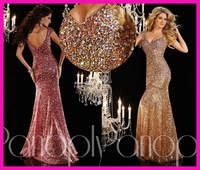 FCD18 Bling beaded sequin corset mermaid sweetheart long length new arrival gold best selling formal sexy luxury evening dresses