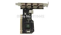 Free shipping  10pcs/lot  480 Mbps 5 Ports USB 2.0 USB2 PCI CARD Controller Adaptor Converter(VIA)