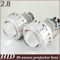 2.8 inch  Angel Eyes CCFL HID Bi xenon Projector  H4h/l H1h/l H7h/l 9005h/l 9006h/l 4300k 6000k 8000k devil eyes car lens