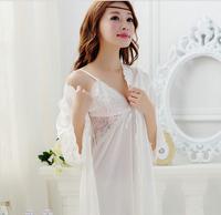 2015 women sleep dress silk (2pc sets ) tank-dress + sleep coat women pajamas top quality cr10