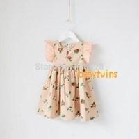 Girls summer   100Tcotton Sleeveless princess dress 100-140cm