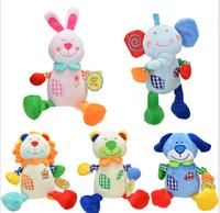 5 pcs/lot Carters Grid baby plush pull string musical toy - Elephant,Dog,Lion,Rabbit,Bear