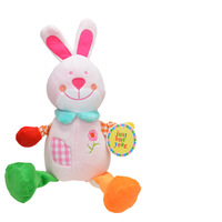 Carters Grid baby plush pull string musical toy -pink Rabbit