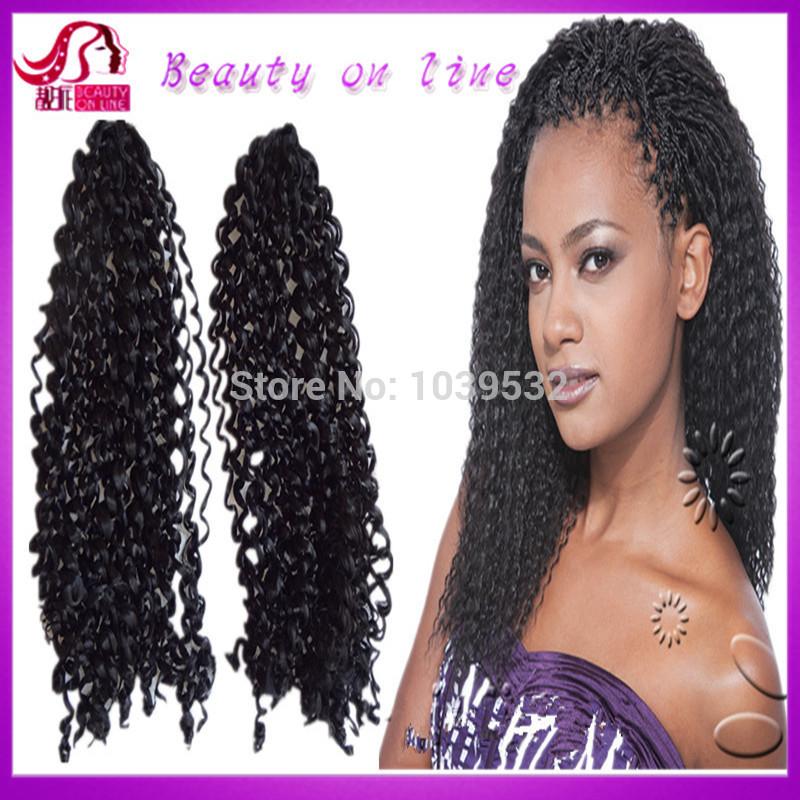 Crochet Braids With Kanekalon Hair Curly Synthetic Curly Braid Hair