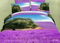 New Beautiful 100% Cotton 4pc Doona Duvet QUILT Cover Set bedding set Full / Queen / King size 4pcs flower colorful purple