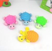 Korean Stationery Animal Cartoon Rubber Traser Turtle creative stationery Kid Eraser Student Erasers Office Suppliers