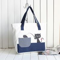Bags nekomania cats canvas bag female bag for women shoulder bag high quality canvas bag