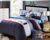 New Beautiful 100% Cotton 4pc Doona Duvet QUILT Cover Set boy's bedding set Full / Queen / King size 4pcs cartoon car