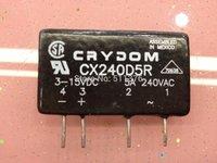 CX240D5R CRYDOM Relay SSR 15mA 15V DC-IN 5A 280V AC-OUT 4-Pin SIP