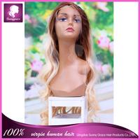 Sunny Grace new arrival wholesale cheap 100 Brazilian virgin hair human hair silk base full lace wig body wave wig