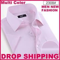 2014 fashion short-sleeve dress men business shirts multicolor short sleeve shirt eden park men's custume british style drresses