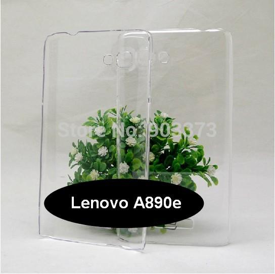 2pcs/lot Lenovo A890e DIY Plastic Case ,Transparent Case for Lenovo A890e Phone(China (Mainland))