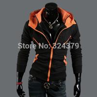 Hot Men's Hoodies,High collar coat arrival top brand men's jackets,Mixed colors Slim cardigan sweater hoodies