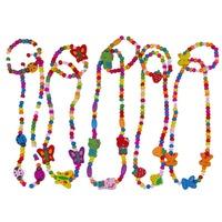 Love children  Suit baby sweet necklace+bracelet Lovely Cartoon wooden hair accessory  wholesale 10 set/lot