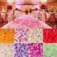 100pcs Lots Rose Flower Petals Leaves Wedding Table Decorations Event Party Supplies Multi Color Wreaths