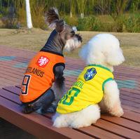Word Cup Dog Vest ,Pet   Puppy & Big Dog Clothing  ,  Waistcoat,Football Uniform, Summer Clothes For Dog Cat ,Pet Product