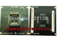 DX3051 / CX3051 PQFP100 ZIF Socket Adapter CX3045  SP6100/SP6000/5000 Original xeltek ***Price can be adjust pls contact